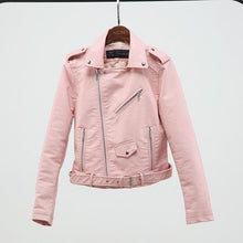 Load image into Gallery viewer, Women Faux Soft Leather Jacket