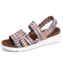 Load image into Gallery viewer, Women Flat Woven Wedge Sandals