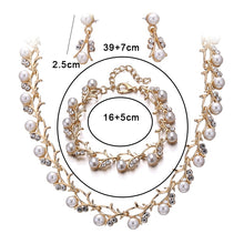 Load image into Gallery viewer, Wedding Necklace Earring Set