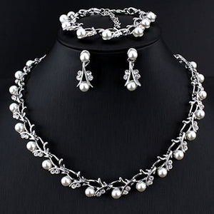 Wedding Necklace Earring Set
