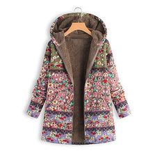 Load image into Gallery viewer, Women's Plus Size Printed Winter Parka Cotton Liner Hoodies