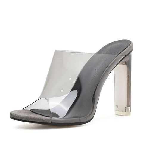 Crystal Square Transparent Clear High Heels