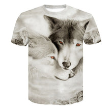 Load image into Gallery viewer, Wolf 3D Print Animal Short Sleeve T-Shirt Men Summer Tops