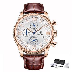 Mens Clock Top Brand Luxury Leather Watches - Zalaxy