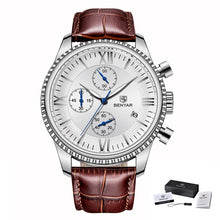 Load image into Gallery viewer, Mens Clock Top Brand Luxury Leather Watches - Zalaxy