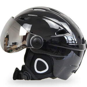 Winter Warm Fleece Ski Helmet With Goggles
