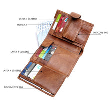 Load image into Gallery viewer, Leather Men Women Wallet