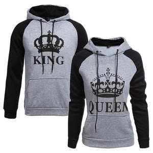 Couple Hoodie Queen King Print - Zalaxy