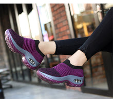 Load image into Gallery viewer, Women Sneakers Shoes Flat Slip on Platform Running Shoes