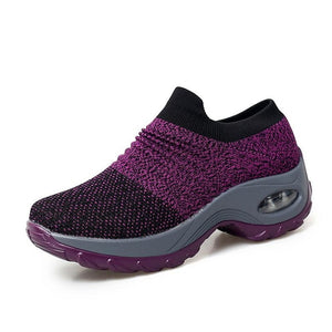 Women Sneakers Shoes Flat Slip on Platform Running Shoes