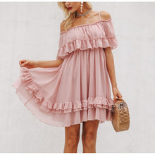 Load image into Gallery viewer, Off Shoulder Strap Chiffon Dresses