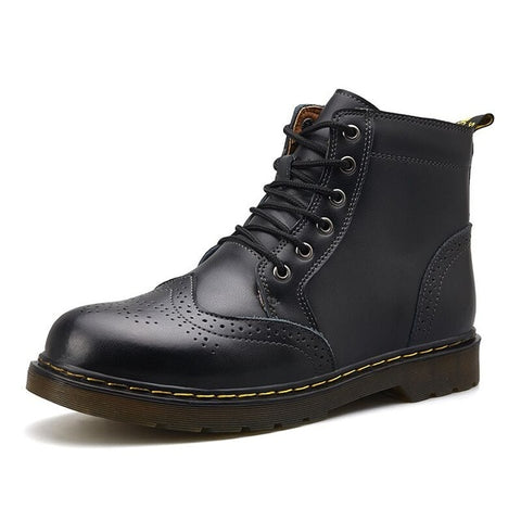 Genuine Leather Men Winter Boots