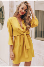 Load image into Gallery viewer, Vintage Chiffon Long Sleeve Dress