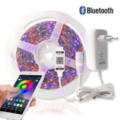 5M Waterproof RGB LED Strip Light With Bluetooth Controller