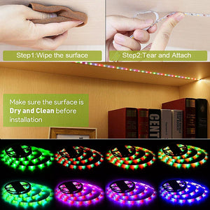 5M Waterproof RGB LED Strip Light With Bluetooth Controller - Zalaxy