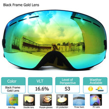 Load image into Gallery viewer, UV400 Anti-fog Double Layers Ski Goggles