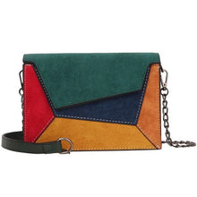 Load image into Gallery viewer, Retro Matte Patchwork Crossbody Bag
