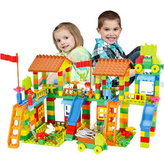 DIY Amusement Park Bricks Compatible Lego Duplo Blocks