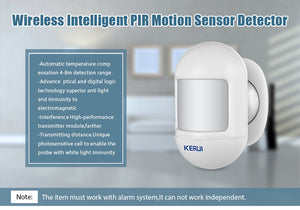 Wireless Mini PIR Motion Sensor Alarm Detector Built-in Battery