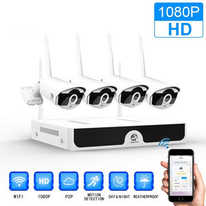 Wireless CCTV 1080P 1TB HDD 2MP IP Security System Video Surveillance Kit