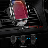 Fast Wireless Car Charging Holder For iPhone/Samsung - Zalaxy