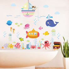 Load image into Gallery viewer, Underwater Fish Bubble Wall Sticker