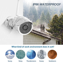 Load image into Gallery viewer, Wireless Security Waterproof Surveillance Camera 1080P 2MP FHD