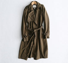 Load image into Gallery viewer, Classic Solid Long Trench Coat - Zalaxy