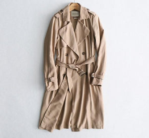 Classic Solid Long Trench Coat - Zalaxy