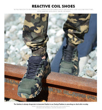 Load image into Gallery viewer, Unisex Air Mesh Safety Work Boots Camouflage Steel Toe Plus Size