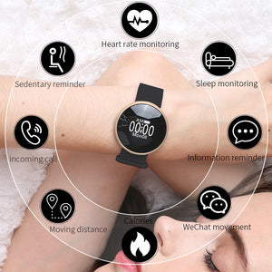Women Smart Watch for iPhone Android Phone with Sleep Monitoring