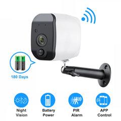 Outdoor IP Camera 1080p HD Battery WiFi Wireless Surveillance