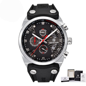 Men's Luxury Waterproof Sport Watches With Leather Band - Zalaxy