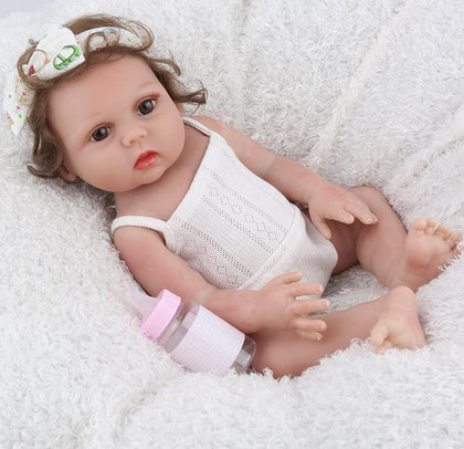 Reborn Baby Doll 17inch Full Vinyl Lifelike Infant