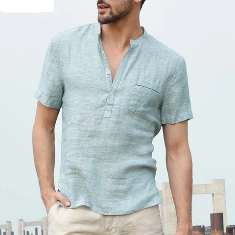 Men's Shirts Stand Collar