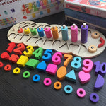 Children Wooden Montessori Materials Learning To Count Numbers Toys - Zalaxy