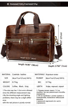 Load image into Gallery viewer, Men's Genuine Leather Cross Body Male Messenger Bag - Zalaxy