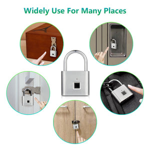 Security Keyless USB Rechargeable Door Lock Fingerprint Smart Padlock