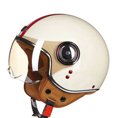 Motorcycle Vintage Helmet Chopper 3/4 Open Face