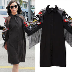 Women Black Shirt Dress