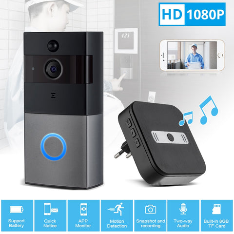 Wireless Video Doorbell WiFi 1080P Security Camera