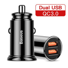 Load image into Gallery viewer, 30W Quick Charge 4.0 3.0 USB Car Charger For Samsung Huawei - Zalaxy
