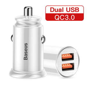 30W Quick Charge 4.0 3.0 USB Car Charger For Samsung Huawei - Zalaxy