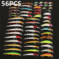 56 pcs. Almighty Mixed Fishing Lure Bait Set