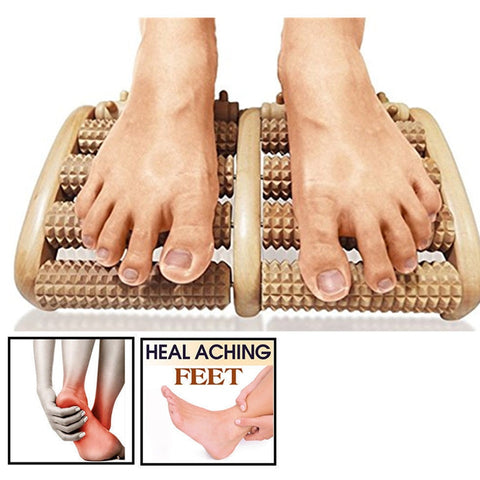 Wooden Foot Roller Massage
