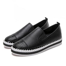 Load image into Gallery viewer, Woman Genuine Leather Creepers Flats