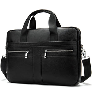 Men's Genuine Leather Cross Body Male Messenger Bag - Zalaxy