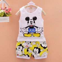 Load image into Gallery viewer, Baby boys Clothing Sets Cartoon Mickey Mouse boys top T-shirt Shorts - Zalaxy