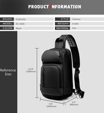 Load image into Gallery viewer, USB Charging Casual Shoulder Crossbody Bags