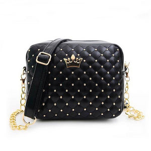 Women Messenger Bags Rivet Chain